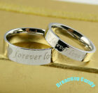 Made in Korea FOREVER LOVE Heart Engraved Couple Rings fine Stainless Steel NEW!