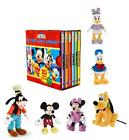 Disney Mickey Mouse Clubhouse Little Library 6 Book Set and Toy Collection Goofy