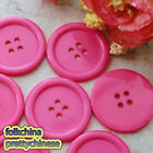 Fuchsia 4 Holes 30mm Plastic Buttons Edge Sewing Cardmaking Scrapbooking FBY008