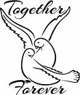 Together Forever Vinyl Home Wall  Free & Fast Shipping! 44 Colors