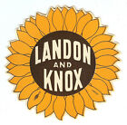 1936 ALF LANDON & FRANK KNOX SUNFLOWER DESIGN CAMPAIGN DECAL