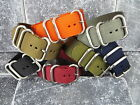 New 24mm Nylon Diver Strap 3 Rings Brush Watch Band Military fit ZULU Maratac 24
