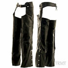 Mens Womans Durable Genuine Buffalo Leather Motorcycle Biker CHAPS pants-XS-5XL