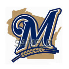 MLB MILWAUKEE BREWERS T-SHIRT IRON ON TRANSFER 3 SIZES FOR LIGHT & DARK FABRIC