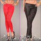 NEW WOMENS SEXY RIPPED LEGGINGS HOTPANTS 8 10 12 LADIES CLUBWEAR CASUAL WEAR S M