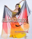 BELLY DANCE COSTUME VEIL SHAWL WRAP SCARF LARGE BOLLYWOOD DANCING MULTI COLOR