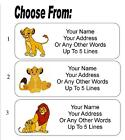 30 Lion King Personalized Address Labels