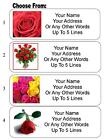 30 Rose / Roses Personalized Address Labels