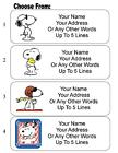 30 Snoopy Personalized Address Labels фото