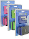 Travel Set Wide Luggage Strap Combination Lock Suitcase ID Tag Blue Green Pink