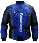 New Mens Blue Enduro Armor Jacket Motorcycle Touring Dual Sport Dirt Bike MX ATV