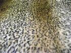 LUXURY Animal Faux Fur Fabric Material BROWN OCELOT