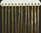 """12 x Gold Plated FLAT SNAKE Metal Necklace Chains 16"""" or 18"""""""