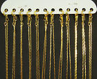 "12 x Gold Plated FLAT SNAKE Metal Necklace Chains 16"" or 18"""