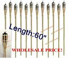6/ 8/ 12/ 18 PCS BAMBOO TIKI TORCHES Yard LUAU Party Garden Light Mosquito 60""