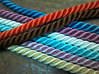 "VINTAGE TWISTED RAYON CORD 3/8"" Made in Japan Dyeable CORDING 3 yds Doll Hair"