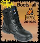 Mongrel Work Boots Steel Toe (251020) Safety Black Zip Side  Boot Brand New*