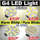 G4 5050/1210 SMD 6/9/12/24 LED Lamp Pure / Warm White Replace Halogen Panel Bulb