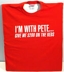 PETE ROSE T-Shirt---Cincinnati Reds--I'M WITH PETE........T-Shirt on Ebay