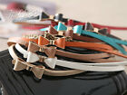 13 COLORS! Bright Fashion Gold Edge Bow Waistband Womens Thin Leather Belt MC06#