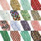 "16"" Strand A-M GEMSTONE Crystal ROUND BEADS 8mm (50+ Beads)"