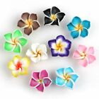 Hot Sell 20x Colorful Flower Polymer Clay/Fimo Charms Beads Jewellery Making