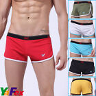 NEW LOOSE FIT BOXERS MEN SEXY Sports Trunks underwear in (SIX COLORS) Sz S/ M /L