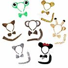 XMAS HALLOWEEN Party Animal Pets Costume Cosplay OPTION 3P Set Headband Tie Tail
