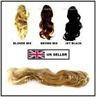 "LONG 20"" CLAW CLIP HAIR PIECE CURLED PONYTAIL EXTENSION BLONDE BROWN BLACK MIX"