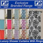 LUXURY WATER REPELLENT SHOWER CURTAINS INCLUDING 12 RINGS