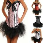 Black tutu POLKA DOT Moulin Rouge Fancy Dress sexy corsets women's basques