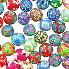 50 Mixed POLYMER FIMO CLAY Round Flower BEADS - Choose 6mm, 8mm, 10mm & 12mm