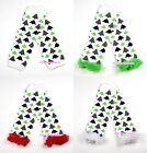 XMAS Baby Girls Christmas Tree Leg Warmer Legging with Colorful Ruffles