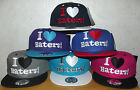 BRAND NEW FLAT PEAK VINTAGE I LOVE HATERS SNAPBACK BASEBALL CAP WITH TAGS