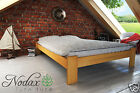 "New Small Double Bed  ""Ada"" Pine , Walnut, Oak, Alder Solid Wooden"