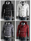 New! Fashion men leisure double-breasted hooded cardigan jacket