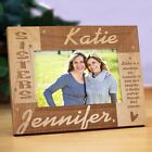 Personalized Sisters Picture Frame Engraved Sister Frame up to 6 Names 3 Sizes