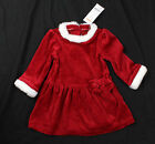 NWT girls size 12 18 24 months Gymboree red velour Santa dress w/ faux fur trim!