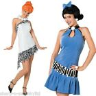 Couples Ladies Wilma AND Betty The Flinstones 60s Fancy Dress Costumes Outfits