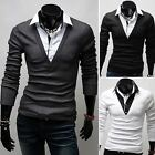 ZC6109 New mens Fashion slim fit casual Long sleeve Shirts 3 Colours