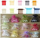100pcs 7x9cm Pure Color Organza Gift Bags Christmas Bags Cute Chic Packing Bags