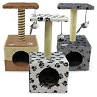 Cat Tree Scratcher Scratch Post Kitten Toy Scratching Activity Centre Easipet