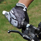 2015 Gel Cycling Bike Bicycle Full Finger Gloves Grey White  Color Size M - XL