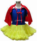 Snow White Girls Princess Costume Party Wear Dance Dress Ballet Tutu Skirt 1-9 T