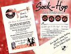 SOCK HOP Event Invitations Birthday pink black Sweet 15 16 ice-cream social
