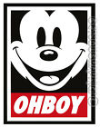 Mickey Mouse Oh Boy Obey Face Logo Iron On T-shirt Hoodie Heat Transfer Print
