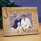 Personalized Engraved Generations Family Picture Frame Family Name Photo Frame