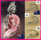 1x Punk Rock Retro Warp Ear Cuff Dragon Cat Could Gothic Stud Earring Clip