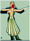 587.Elegant dancing couple Art Decor POSTER.Graphics to decorate home office.