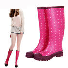 NEW Fashion Rubber pull on Rain Boots Snow Gardening Boots women flat shoes